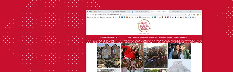 5 Best Sorority Chapter Websites_Alpha Gamma Delta