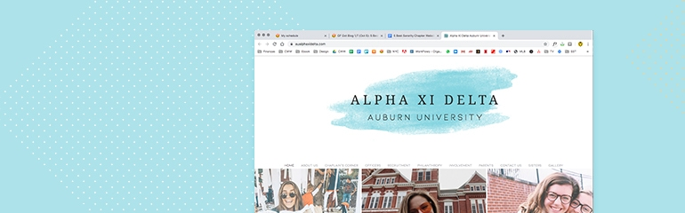 5 Best Sorority Chapter Websites_Alpha Xi Delta