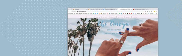 5 Best Sorority Chapter Websites_Chi Omega