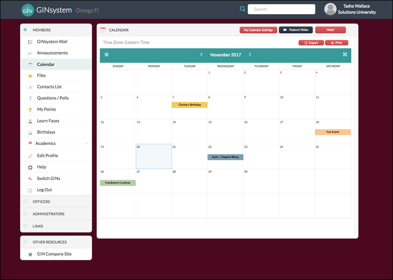 Make sure your members and recruits know when to shpw up by scheduling fraternity recruitment events in your communicatiosn software.