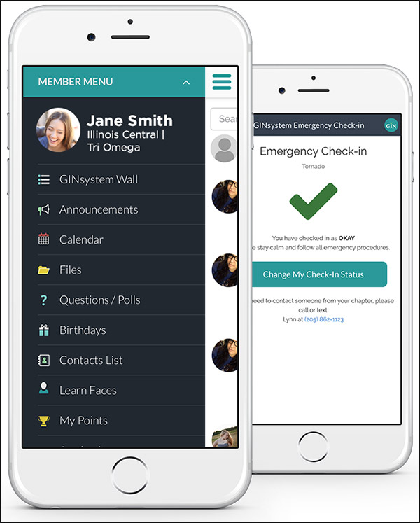OmegaFi's communication tool, GIN, keeps your members, leadership team, and recruits in the loop.
