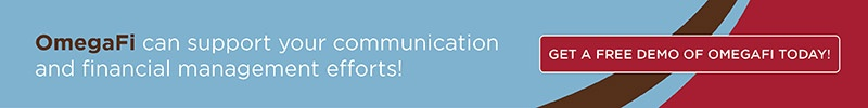 OmegaFi can support your communication and financial efforts. Get a demo!
